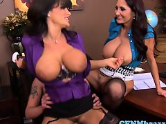 Awesome cfnm action with rounded Lisa Ann