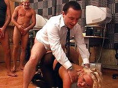 Natasha - Golden-haired Secretary Gangbanged