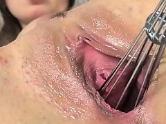 Luxury kitchen toy in her pussy cunt