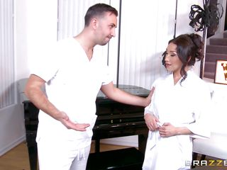 damp latina gets it from the masseur