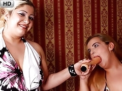Blonde Buxom BBWs Banging Boxes