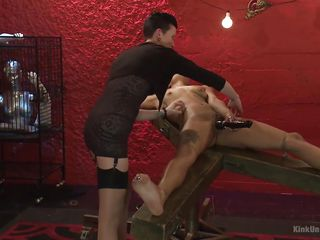 sexy black slave masturbates @ tickling: from teasing to torment