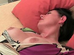 British milf with big boobs and hairy pussy