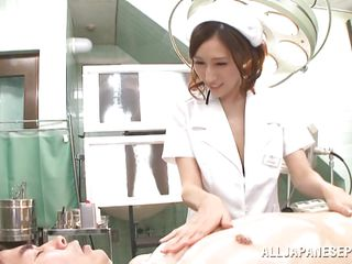 busty nurse entertains a horny dutiful