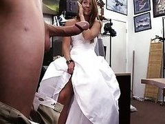 Bride to be pawns her twat and slammed
