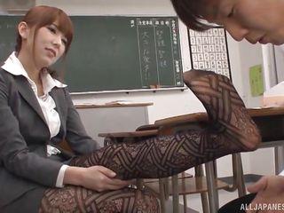 slutty asian advisor hatano, seduces horny student