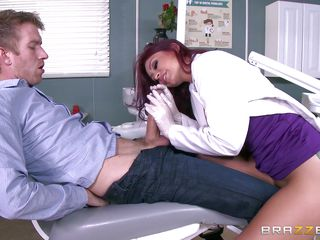 sexy nurse takes her patient's big dick all in