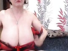 Cute full-grown with weighty ordinary mounds teasing on webcam