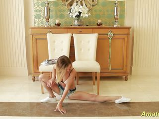 flexible meager teen gymnast