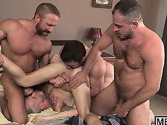 Cute infant studs and older hunks have a sexy fuck session