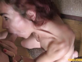 naughty redhead rims her agent for a role