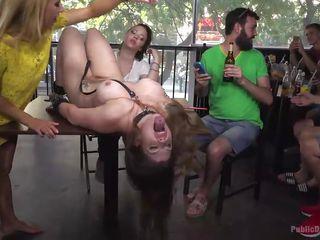 big tit sub takes hard weenie in her jaw