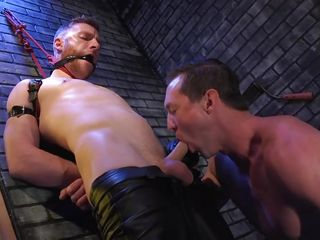 the hangman uses admirable oral skills to drive sebastian keys completely wild