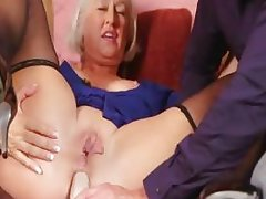 First a dildo, then a cock for Jeannie Lou's ass