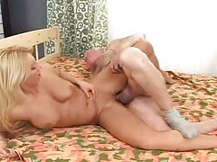 Smoking hot blond babe Ady likes it hard and old