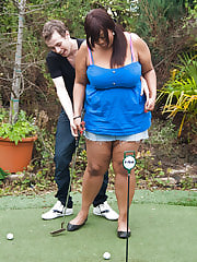 Hot black BBW seduced golf coach