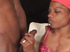 Handicapped ebony fucking hard