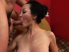 Mature Asian slut Angie Venus gets butt fucked severe