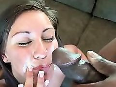 Amateur Cutie Gets Cumloaded By A Black Cock