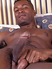 Black Gay Hunk Stroking